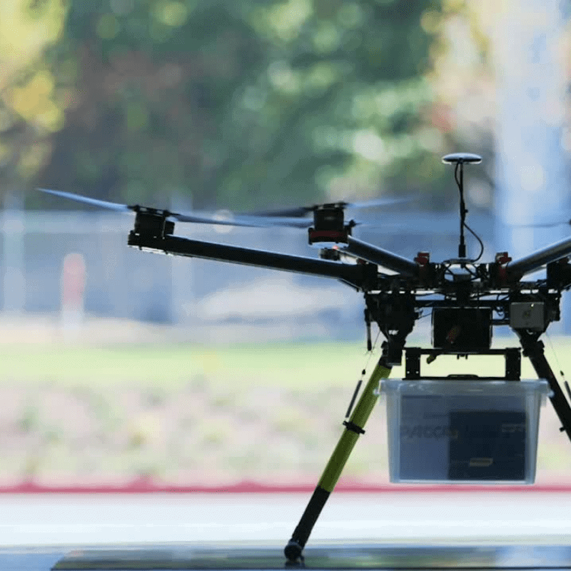 drone delivery takeoff