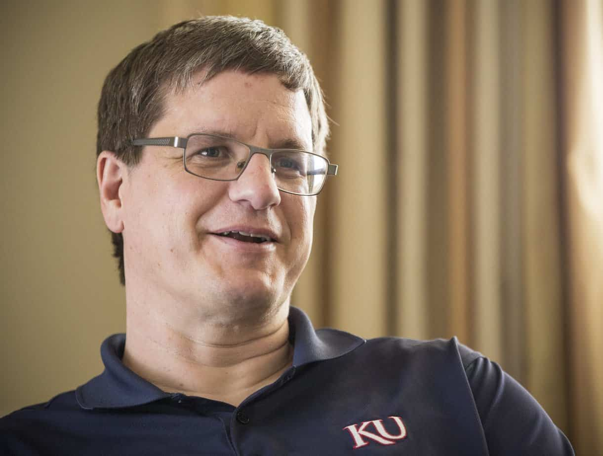 Brian McClendon, co-creator of Google Earth talks with the Lawrence Journal-World on Wednesday, April 12, 2017 at the News Center. McClendon says that he will become an EECS professor this fall.